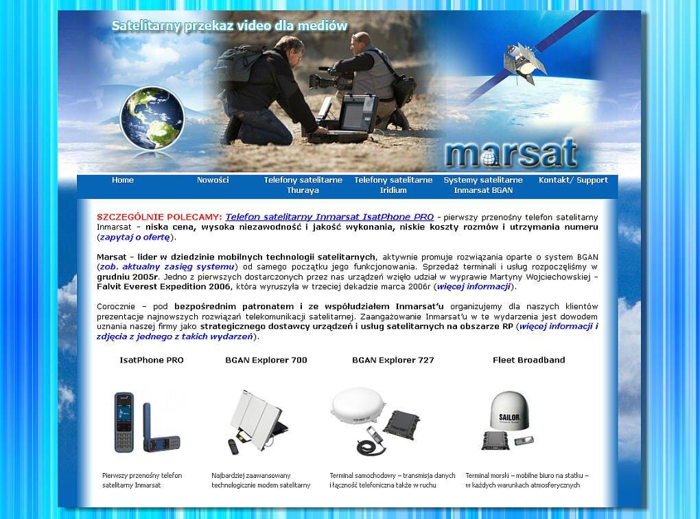 Strona internetowa - Telefony satelitarne